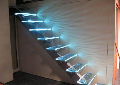 Eclairage d'un éscalier par led
