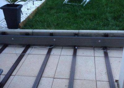 Préparation d'une terrasse